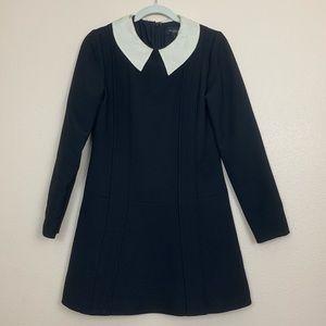 Jill Stuart Collared Mini Black Dress Size 4